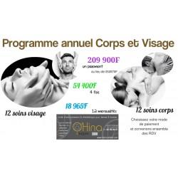 Programme annuel visage et corps